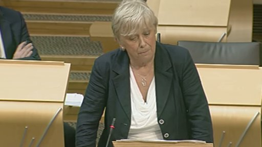 Conservative MSP Nanette Milne led the debate