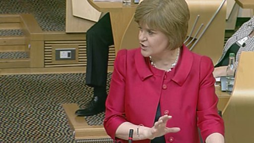 Deputy First Minister Nicola Sturgeon