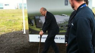 Business Secretary Vince Cable opened the ground-breaking ceremony at the Advanced Blade Casting Facility at Waverley