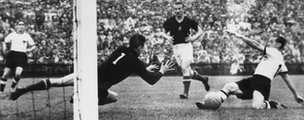 West Germany scores in 1954 World Cup final