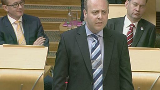 Scottish Conservative finance spokesperson Gavin Brown leads the debate on empty property rates relief.