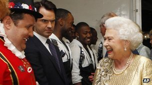 Peter Kay, Jimmy Carr and the Queen