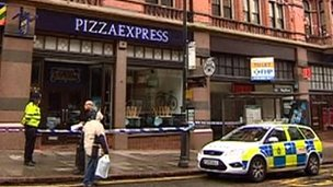 Pizza Express on King Street, Nottingham