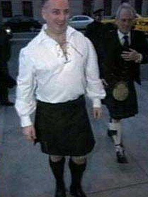 Jack McConnell in his kilt