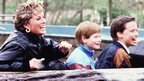 Princess Diana with Prince Harry and Prince William at Thorpe Park in 1993