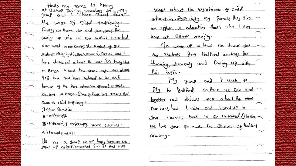 World class bbc in pictures latest from the olympic dreams network this letter is from mercy a student at bishop okiring in kenya as part thecheapjerseys Images