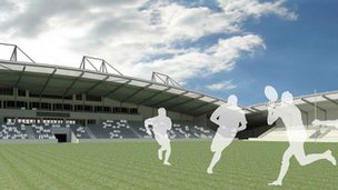Artist&#039;s impression of the new stadium