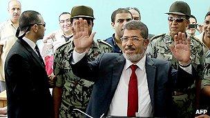 Egyptian presidential candidate Mohammed Mursi