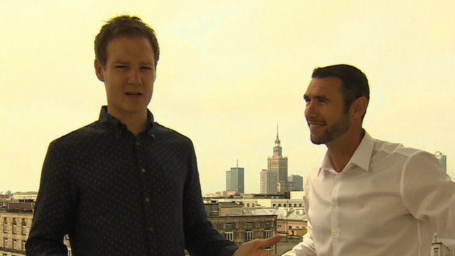 Dan Walker and Martin Keown for World Focus