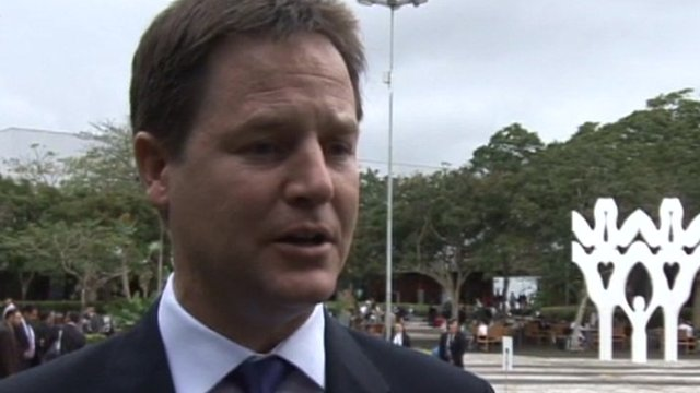 Deputy Prime Minister Nick Clegg