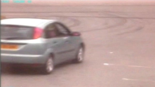 CCTV image of speeding car