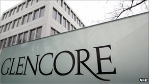 Glencore sign outside office