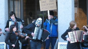 Protest outside Highland Council HQ