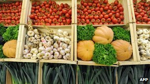 Vegetables for sale at market