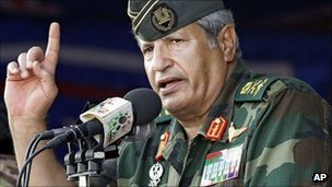 A photo of former Libyan Interior Minister who defected from Col Gaddafi&#039;s regime to lead the fight that eventually toppled him. He was killed in July 2011.