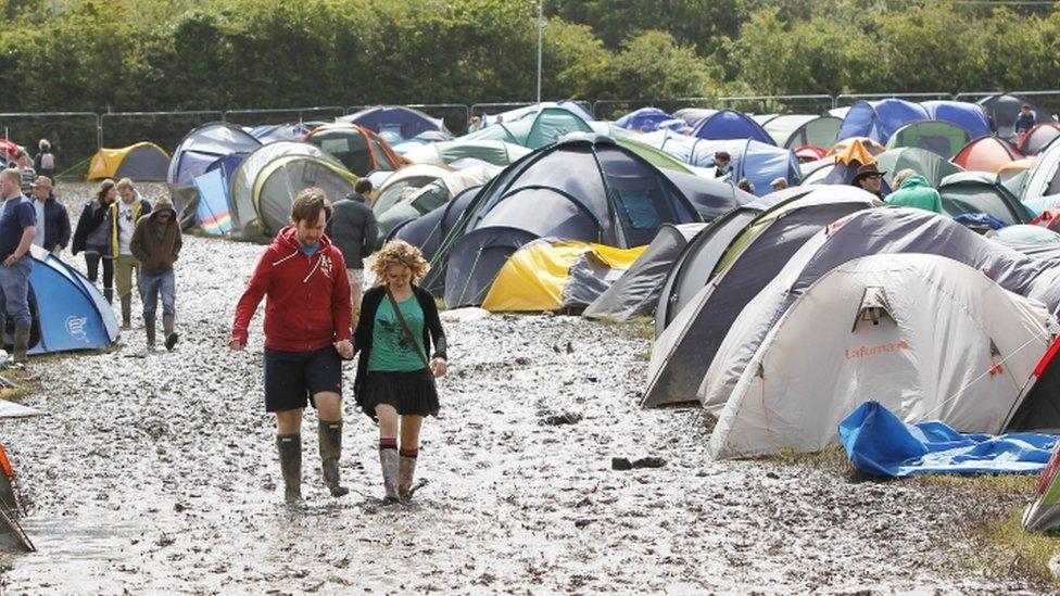 Isle of Wight Festival Camping Isle of Wight Festival-goers