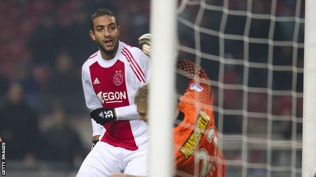 Egyptian striker Mido in action for Dutch club Ajax
