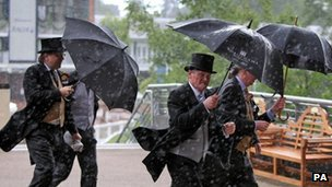 Racegoers at Royal Ascot on 22 June 2012