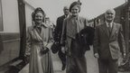Clementine Churchill in Worcester (centre)