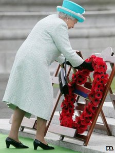 The Queen laid a wreath in Dublin