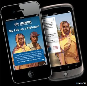"""My life as a refugee"" game, UNHCR"