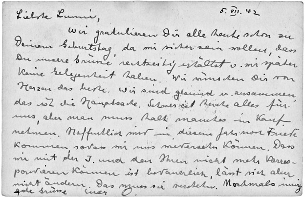 Postcard from Otto Frank