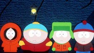 South Park cartoon characters