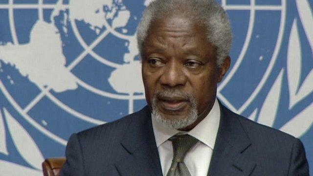 UN Arab League Special Envoy Kofi Annan
