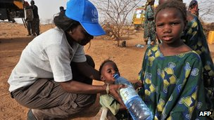 Aid work in Niger