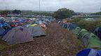 Tents at the Isle of Wight Festival
