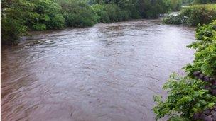 River Colne in Huddersfield