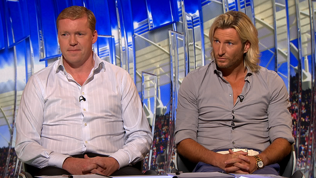 Steve Staunton and Robbie Savage
