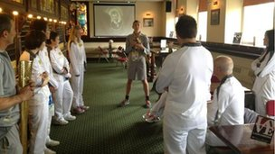 Preparing torchbearers in Burnley