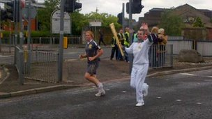 Torchbearing in Blackburn