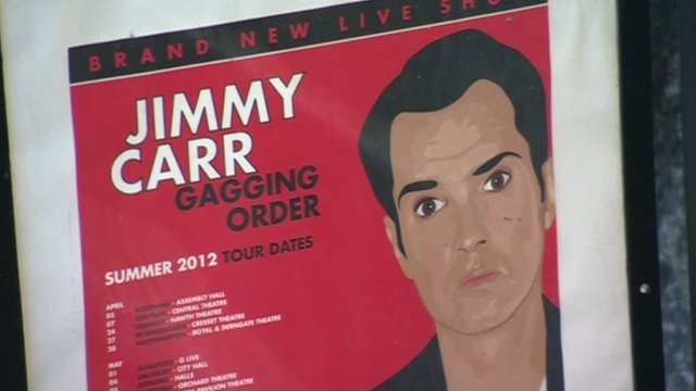 Jimmy Carr tour poster