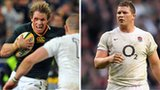 South Africa captain Jean de Villiers and England counterpart Dylan Hartley