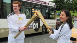 Torch 'kiss' in Blackburn