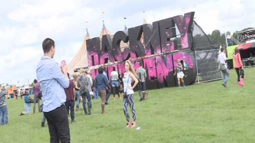 Festival-goers at Hackney Weekend
