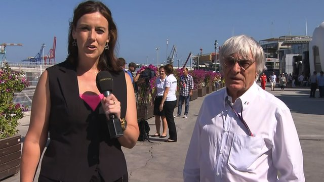 Lee McKenzie and Bernie Ecclestone