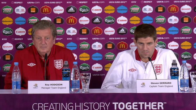 England manager Roy Hodgson and captain Steven Gerrard