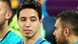 France midfielder Samir Nasri (centre)