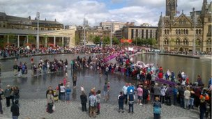 Crowds in Bradford