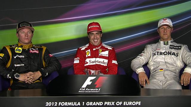 Raikkonen, Alonso & Schumacher