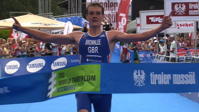 Alistair Brownlee wins the World Series Triathlon in Kitzbuehel