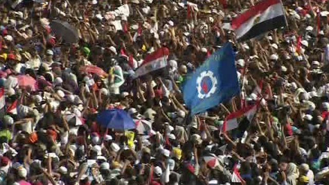 Celebrations in Tahrir Square in Cairo