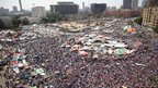 Muslim Brotherhood supporters pack Tahrir Square, Cairo, ahead of the result
