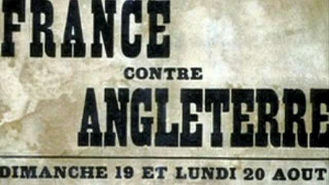 Cricket match poster: France versus England