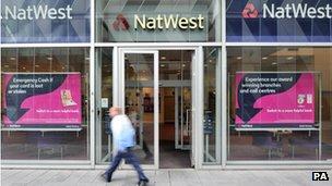 Customer walks past Natwest