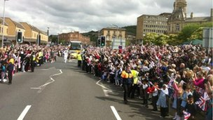 Dewsbury turns out for the torch
