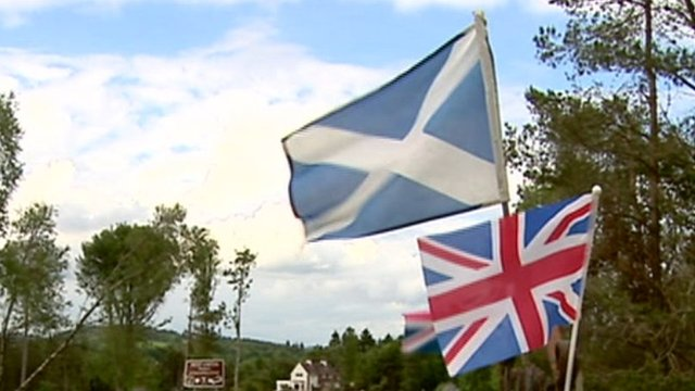 Scottish flag and the Union Jack